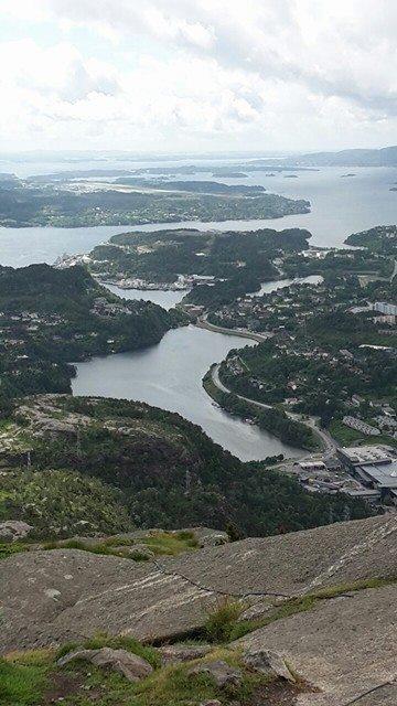 utsikt fra lyderhorn