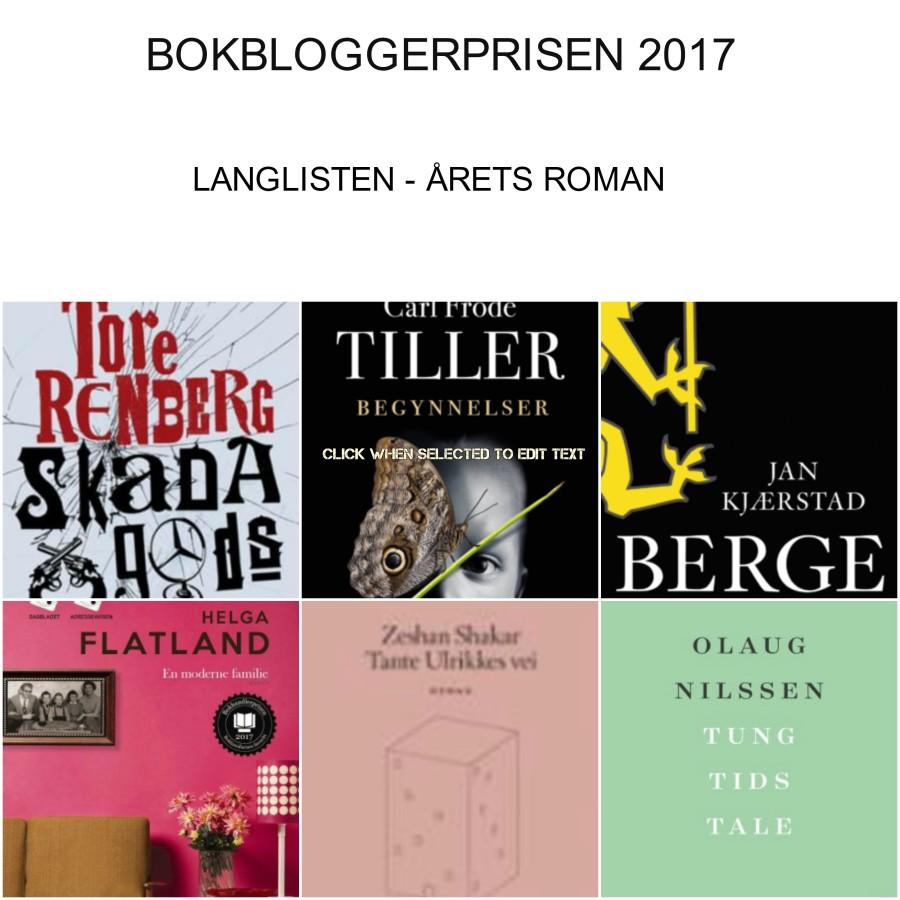 Langlisten 2017 BBP roman