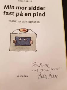 signert gave fra Helle Helle