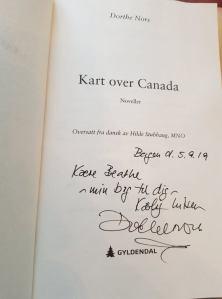 signert utgave av kart over canada